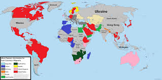 Nepal On A World Map by Most Popular Migrant Destinations By Country Brilliant Maps