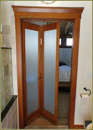 Frosted Closet Door Frosted Bi Fold Closet Doors Home Design Ideas Inside Bifold With