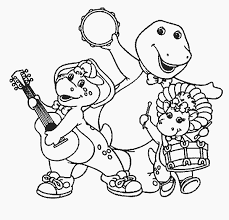 barney free coloring pages art coloring pages