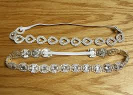 rhinestone headbands diy rhinestone trim headband