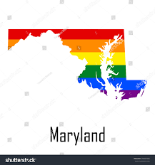 Map Of Maryland Vector Rainbow Map Maryland Colors Lgbt Stock Vector 348035060