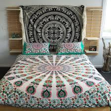 mandala tapestry duvet cover hippie blanket queen throw doona
