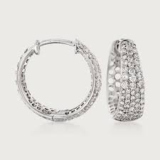 diamond hoops roberto coin 65 carat total weight small diamond hoops in 18