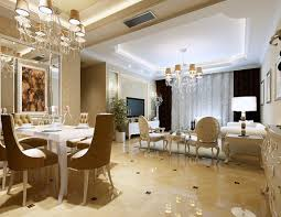 luxury penthouse classic european dining room interior design with