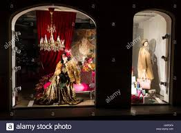 Christmas Decorations Shop Window Displays by A Ladies Clothes Shop Window Display With Christmas Decorations As