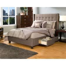 King Bed Platform Beds Inspiring Upholstered King Bed With Storage Cool