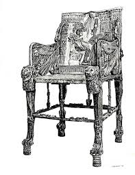 Egyptian Chair Throne Drawing By Adendorff Design