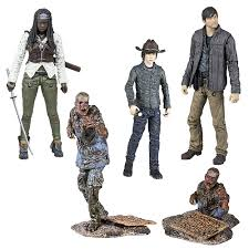 the walking dead tv series 7 figure set mcfarlane toys