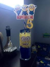 minion centerpieces minion centerpiece with candy minion party ideas