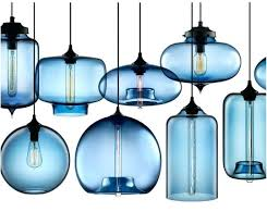 Glass Blown Pendant Lights Lovable Hanging Glass Pendant Lights Ideas Light Blown Kitchen