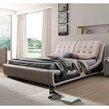 Contemporary Platform Bed Us Pride Furniture B8049 Ek Leather