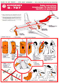 safety card aviogenex boeing b727 200 1 safety card