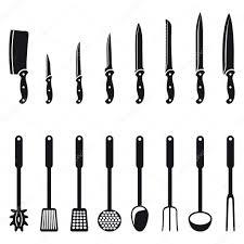 white kitchen knives kitchen knives and utensils u2014 stock vector mannaggia 3902791