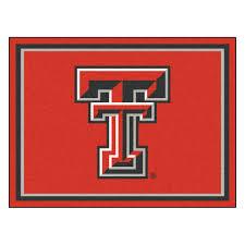 8x10 Red Area Rug Tech University Red Raiders Area Rug Nylon 8 U0027 X 10 U0027