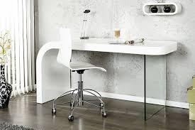 bureaux verre bureau design blanc laque et verre timmen