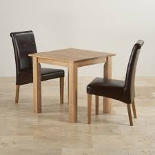 Oak Dining Chairs Hudson Dining Set In Natural Oak Table 2 Leather Chairs