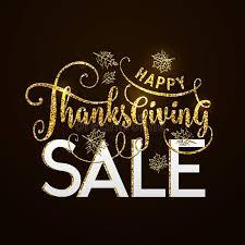 vector illustration of happy thanksgiving sale luxury design stock