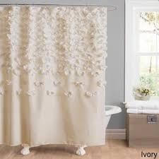 Ruffle Shower Curtain Anthropologie Lush Decor Lucia Ivory Shower Curtain