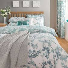 Dunelm Mill Duvet Covers Honesty Teal Reversible Duvet Cover And Pillowcase Set Dunelm