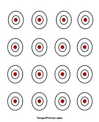 printable 16 bullseye shooting targets