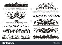 halloween dividers collection horizontal borders halloween stock