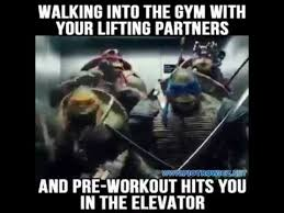 Pre Workout Meme - walking into the gym with your lifting partners and pre workout