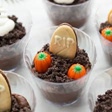 gluten free vegan halloween graveyard dirt cups meaningful eats