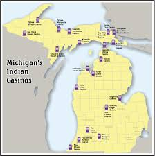 Map Of Lower Michigan by Mgcb Map Of Native American Casino Locations
