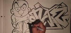 how to draw a street smart gangsta popeye graffiti u0026 urban art