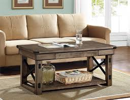 Coffee Tables Cheap by Amazon Com Altra Wildwood Wood Veneer Coffee Table Rustic Gray