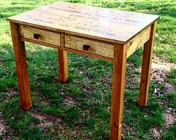 Writing Desk With Drawer by Writing Desk Etsy