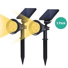 Warm Solar Lights by 5 Best Nekteck Solar Powered Garden Spotlight Outdoor Spot Lig