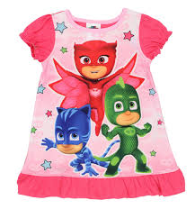pj masks toddler girls nightgown pajamas