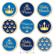 amazon com little prince royal baby shower stickers gold and