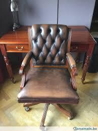 fauteuil bureau chesterfield fauteuil de bureau chesterfield en cuir brun a vendre 2ememain be