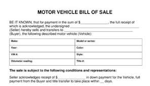 Free Motor Vehicle Bill Of Sale Template by Motor Vehicle Bill Of Sale Template
