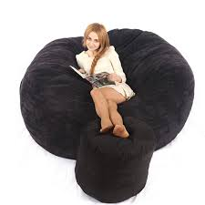 Bean Bag Chair Bed 6ft Memory Foam Bean Bag Bed Chair Cover Love Sac