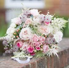 Wedding Flowers Pink Romantic Bouquet White Cloud