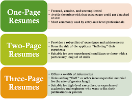 different types of resumes examples resume aesthetics font margins and paper guidelines resume genius ideal resume length