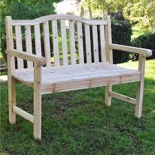 Hardwood Garden Benches Outdoor Cedar Wood Garden Bench In Natural With 475lbs Weight