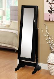 mirror jewelry armoires amazon com black mirrored jewelry cabinet amoire w stand mirror