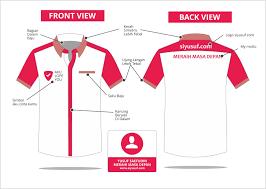 desain baju seragam simple
