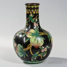 Antique Cloisonne Vases Search All Lots Skinner Auctioneers