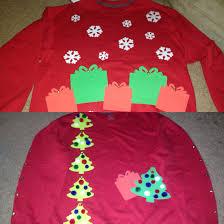 diy ugly christmas sweaters sweatshirts foam cutouts pom poms