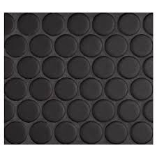 complete tile collection penny round mosaic midnight black