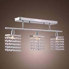 linear flush mount ceiling light 3 light hanging crystal linear chandelier flush mount ceiling lights