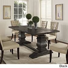 overstock dining room tables column wood dining table free shipping today overstock com