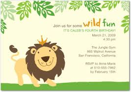Jungle Birthday Card Jungle Birthday Party Invitations Oxsvitation Com