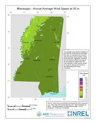 Ms Map Windexchange Mississippi 30 Meter Residential Scale Wind Resource Map