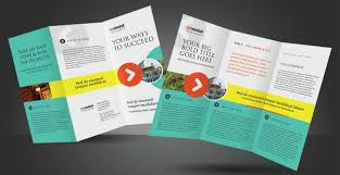 tri fold brochure template illustrator free sided tri fold brochure template fieldstation co